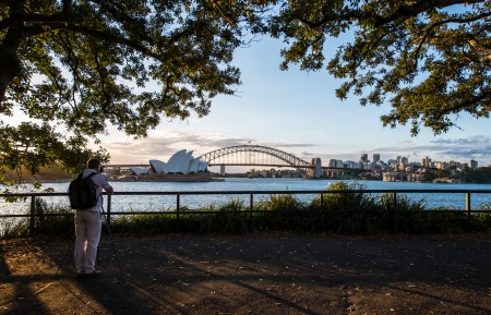 nsw: SYDNEY, NSW AUSTRALIA-MARCH 11   Sunset at Opera house on March  Stock Photo