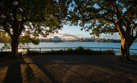 SYDNEY, NSW AUSTRALIA-MARCH 11   Sunset at Opera house on March  Stock Photo