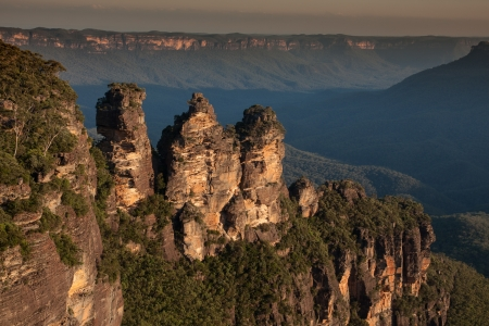 Three sister in Blue mountains national park in NSW Australia photo