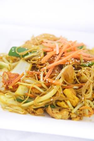 Singapore noodles stir fried photo