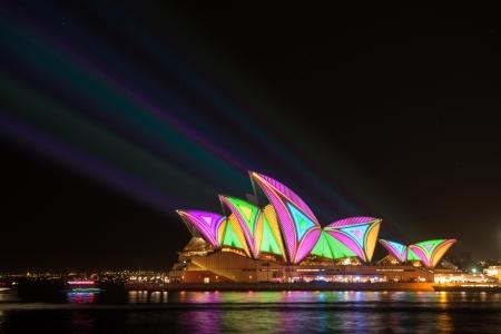 Opera house in Vivid Sydney festival 2013