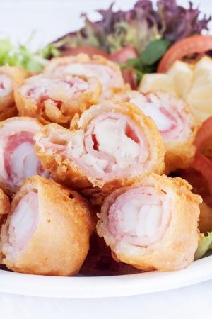 Rolo de bacon frito Banco de Imagens