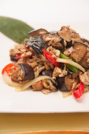 Stir frito planta ovo, comida tailandesa Banco de Imagens