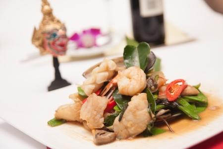 Fritos frutos do mar tailand