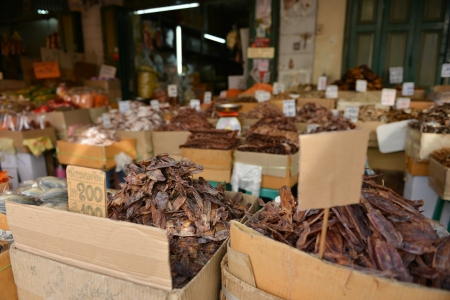 Dried fish, seafood product at market from Thailand   photo