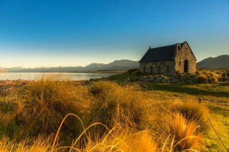 Bela paisagem do lago Tekapo South Island, Nova Zel
