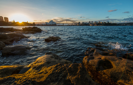 Sunset at Sydney harbour photo