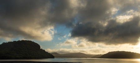 nsw: Sunrise from Hawsbury river, NSW