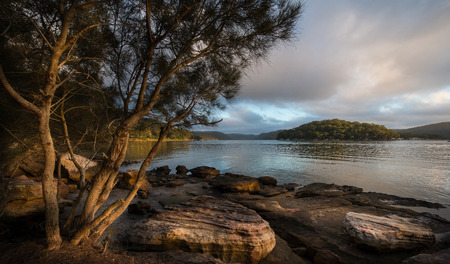 Sunrise from Hawsbury river, NSW photo