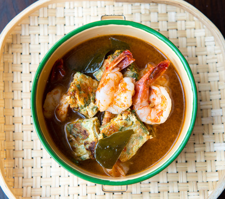 Thai Spicy soup with prawn. photo