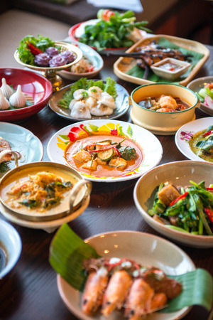 Thai foods. 版權商用圖片