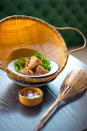 entree: Thai food entree.