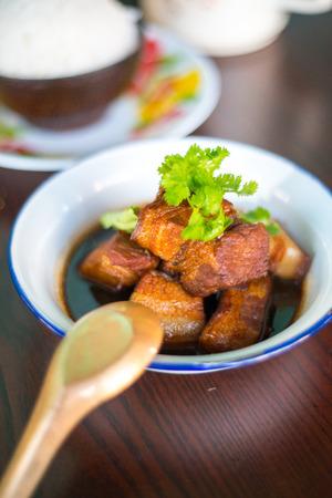 Pork five spice stew Stock Photo