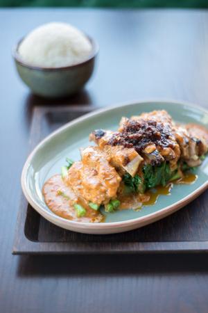 peanut sauce: Stir fried peanut sauce, Thai food
