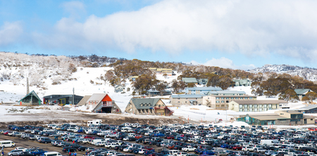 Snow mountains in Kosciuszko National Park, Australia