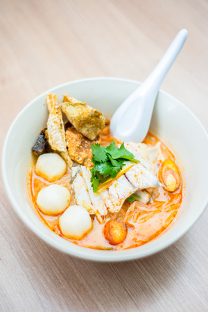 tom': Tom yum noodle soup Stock Photo