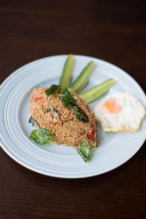 thai basil: Thai basil fried rice