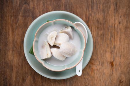 banana in coconut milk 版權商用圖片