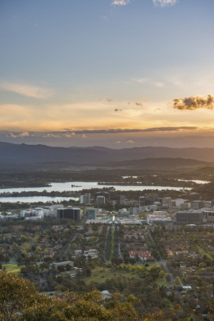 Canberra city from Mt.Ainsel Stock Photo