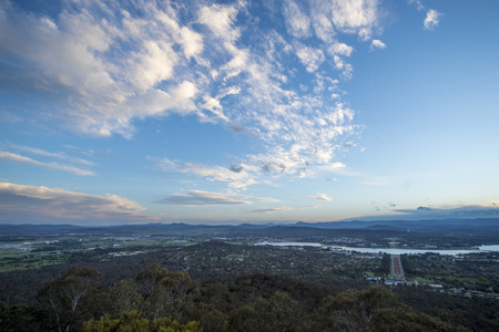 minister of war: Canberra city from Mt.Ainsel Stock Photo