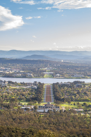 Canberra: Canberra city from Mt.Ainsel Stock Photo