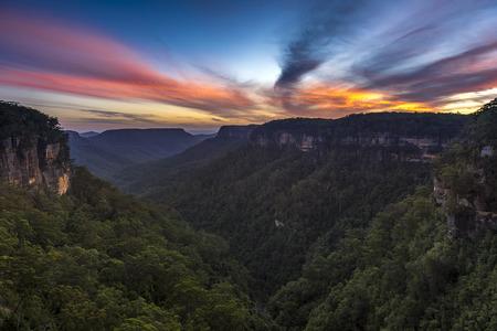 Sunset from Kangaroo Valley 版權商用圖片