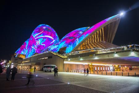 Opera house in Vivid Sydney