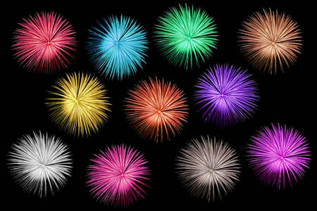 colorful light display: Fireworks display Stock Photo