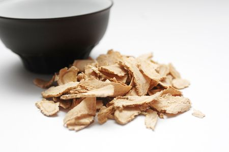 build up: Dang gui (the dried root of the Angelica Sinesis) is used all over the world to promote better health. A simple infusion of dang gui has been said to build up the immune system and ward off many common ailments. The taste is similar to ginseng.