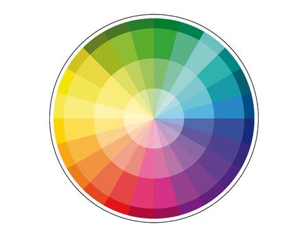 harmonization: Colour Combination Background Illustration