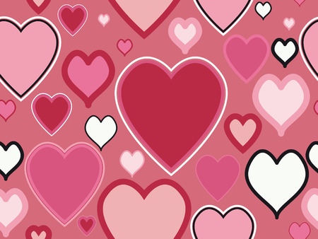 holidays for couples: Seamless Valentines Day Pattern