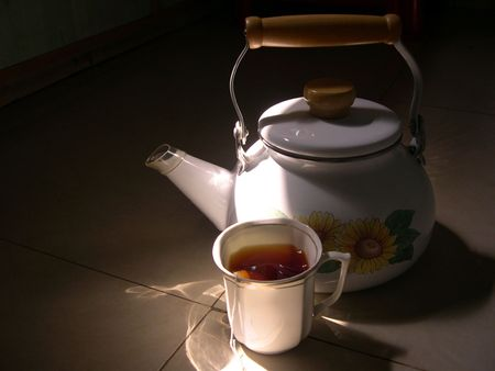 A Hot Cup of Tea in the Early Morning