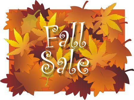 Fall koop bord met Maple Leaf ontwerp achtergrond in levendige veelkleurige Stockfoto