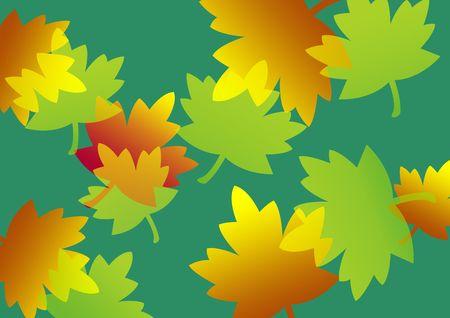 Maple leaf design background in vibrant multicolors