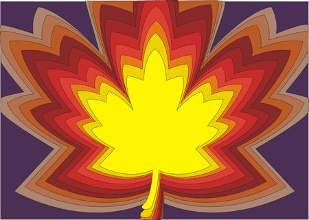 Maple leaf design background in vibrant multicolors