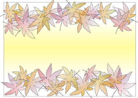 Two side leaf border in plesant pastle shades Stock Photo