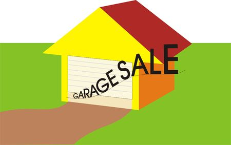 Colorful House to show Garage Sale of Attractive Items
