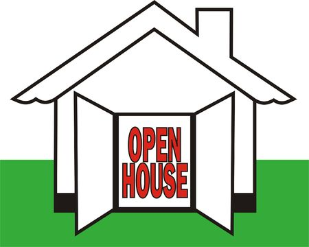 Symbol for Real Estate Invitation for the Open House Stock Photo - 5331672