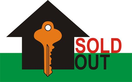 Sold out Sign with Key to the House photo