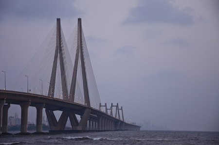 A Beautiful late Evening View of Bandra-Worli Sea Link from Bandra Fort.