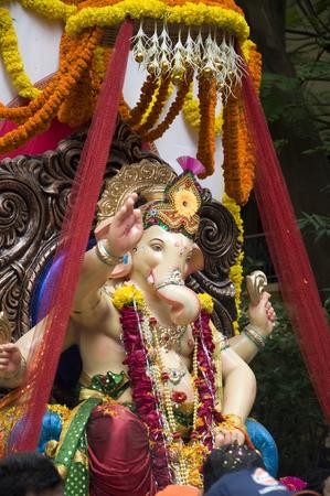 Lord Ganesha Procession Two: Processie van Lord Ganesha op Anant Chaturdashi Day.