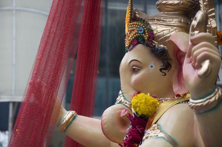 Lord Ganesha Procession Six: Procession of Lord Ganesha on Anant Chaturdashi Day. Stock Photo