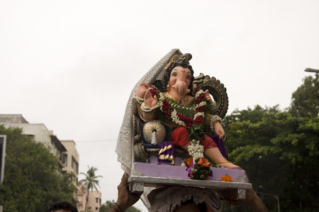 Lord Ganesha Procession Seven: Procession of Lord Ganesha on Anant Chaturdashi Day.