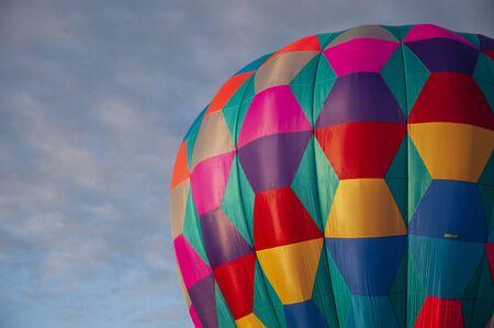 Close up of a Beautiful Colorful Hot Air Balloon - Nineteen