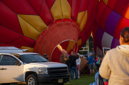 Beautiful Colorful Hot Air Balloon getting inflated - Twenty Seven