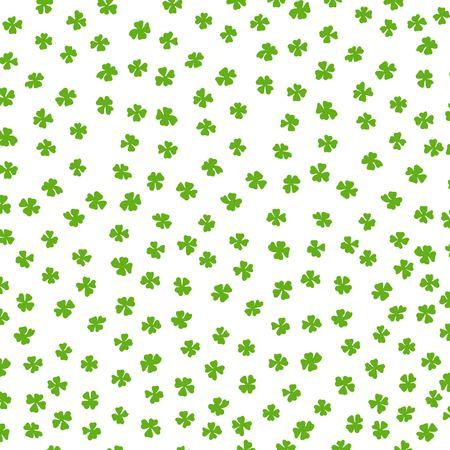 erin: Clover leaf Irish colored background. Illustration