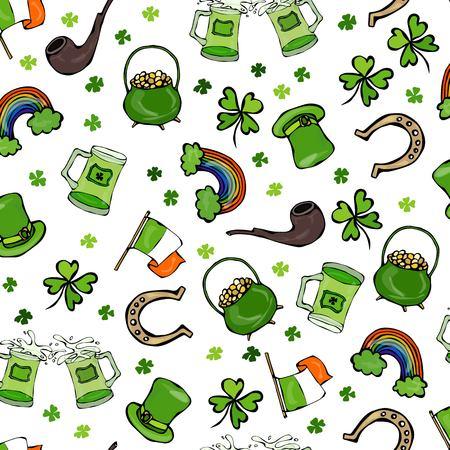 goodluck: Irish Simbols Seamless Backgroung Illustration
