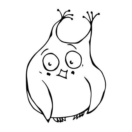 ashamed: Doodle Cartoon Hand Drawn Sketch Vector Illustration Emoji Character. Stock Photo