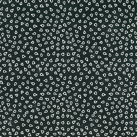 Black Board. Sesame Seeds Seamless Endless Background Pattern. Food Collection. Realistic Hand Drawn High Quality Vector Illustration. Doodle Style