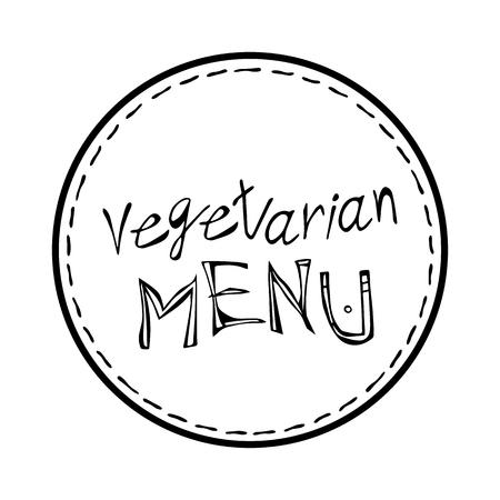 Vegan diet label emblem packaging, circle stamp. Food sticker, round  vegetarian diet icon clip art, green label graphic design. Foto de archivo - 114847398